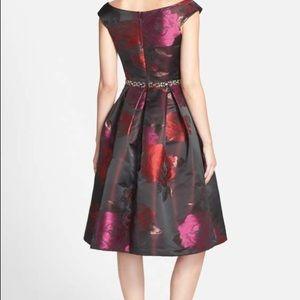 acef82ce460 Eliza J Nordstrom Dresses - Nordstrom Floral Jacquard Fit   Flare Dress